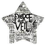 Pierce The Veil Music Band Group Fabric Art Cloth Poster Star Ornament (Two Sides)  Back