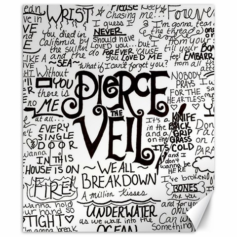 Pierce The Veil Music Band Group Fabric Art Cloth Poster Canvas 8  x 10