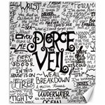 Pierce The Veil Music Band Group Fabric Art Cloth Poster Canvas 8  x 10  10.02 x8 Canvas - 1