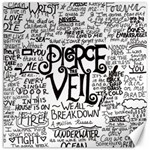 Pierce The Veil Music Band Group Fabric Art Cloth Poster Canvas 12  x 12   12 x12 Canvas - 1