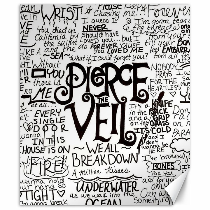 Pierce The Veil Music Band Group Fabric Art Cloth Poster Canvas 20  x 24