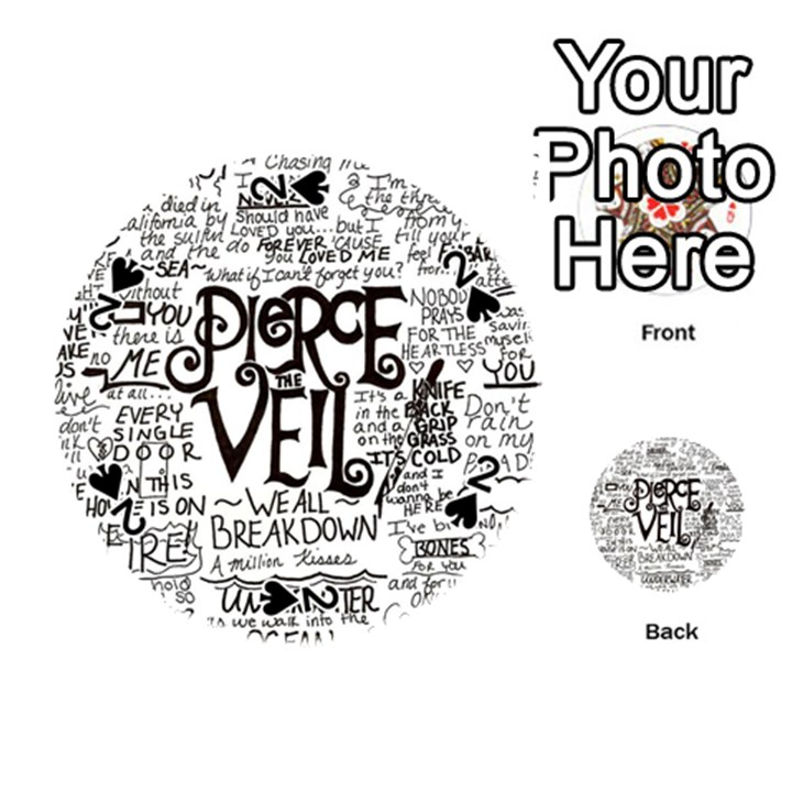 Pierce The Veil Music Band Group Fabric Art Cloth Poster Playing Cards 54 (Round)