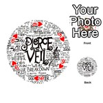 Pierce The Veil Music Band Group Fabric Art Cloth Poster Playing Cards 54 (Round)  Front - Heart9