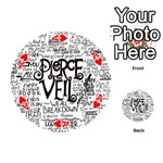 Pierce The Veil Music Band Group Fabric Art Cloth Poster Playing Cards 54 (Round)  Front - HeartA