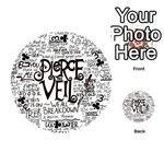 Pierce The Veil Music Band Group Fabric Art Cloth Poster Playing Cards 54 (Round)  Front - Club3