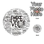 Pierce The Veil Music Band Group Fabric Art Cloth Poster Playing Cards 54 (Round)  Back
