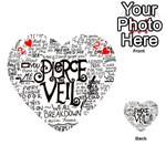 Pierce The Veil Music Band Group Fabric Art Cloth Poster Playing Cards 54 (Heart)  Front - Heart2