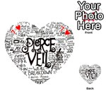 Pierce The Veil Music Band Group Fabric Art Cloth Poster Playing Cards 54 (Heart)  Front - Heart7