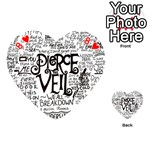 Pierce The Veil Music Band Group Fabric Art Cloth Poster Playing Cards 54 (Heart)  Front - Heart8