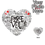Pierce The Veil Music Band Group Fabric Art Cloth Poster Playing Cards 54 (Heart)  Front - Heart9