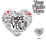 Pierce The Veil Music Band Group Fabric Art Cloth Poster Playing Cards 54 (Heart)  Front - HeartA