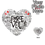 Pierce The Veil Music Band Group Fabric Art Cloth Poster Playing Cards 54 (Heart)  Front - DiamondK