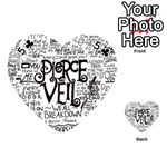 Pierce The Veil Music Band Group Fabric Art Cloth Poster Playing Cards 54 (Heart)  Front - Club5