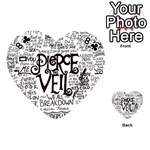 Pierce The Veil Music Band Group Fabric Art Cloth Poster Playing Cards 54 (Heart)  Front - Club8