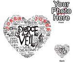 Pierce The Veil Music Band Group Fabric Art Cloth Poster Playing Cards 54 (Heart)  Front - Joker2