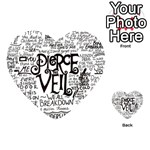 Pierce The Veil Music Band Group Fabric Art Cloth Poster Playing Cards 54 (Heart)  Back