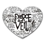 Pierce The Veil Music Band Group Fabric Art Cloth Poster Heart Mousepads Front