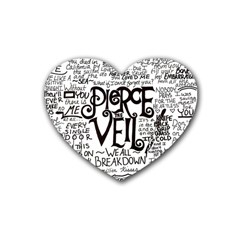 Pierce The Veil Music Band Group Fabric Art Cloth Poster Rubber Coaster (heart)