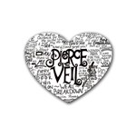 Pierce The Veil Music Band Group Fabric Art Cloth Poster Heart Coaster (4 pack)  Front