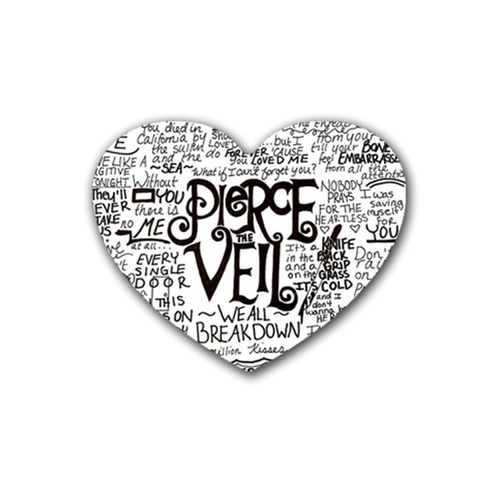 Pierce The Veil Music Band Group Fabric Art Cloth Poster Heart Coaster (4 pack)