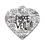 Pierce The Veil Music Band Group Fabric Art Cloth Poster Dog Tag Heart (One Side) Front