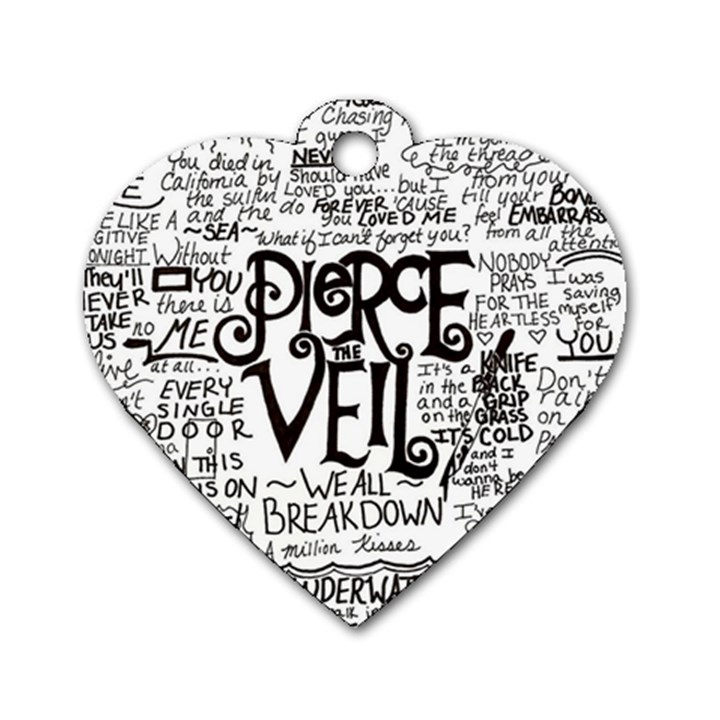 Pierce The Veil Music Band Group Fabric Art Cloth Poster Dog Tag Heart (One Side)