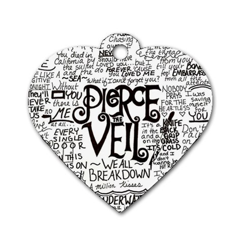 Pierce The Veil Music Band Group Fabric Art Cloth Poster Dog Tag Heart (Two Sides)