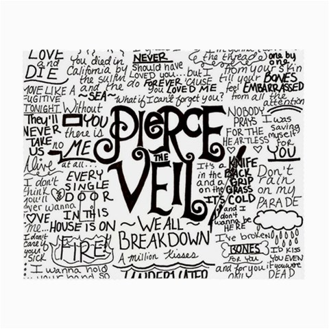 Pierce The Veil Music Band Group Fabric Art Cloth Poster Small Glasses Cloth (2-Side)