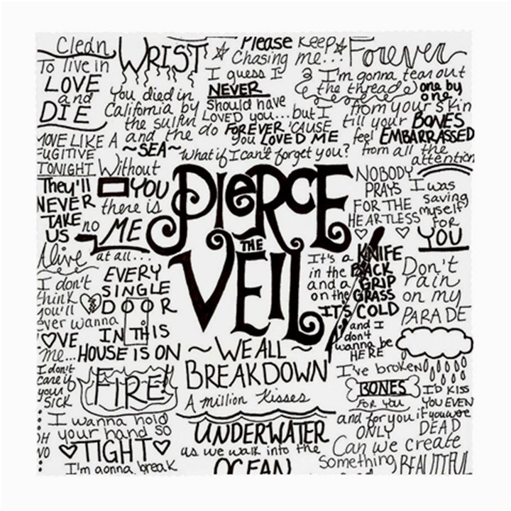Pierce The Veil Music Band Group Fabric Art Cloth Poster Medium Glasses Cloth (2-Side)