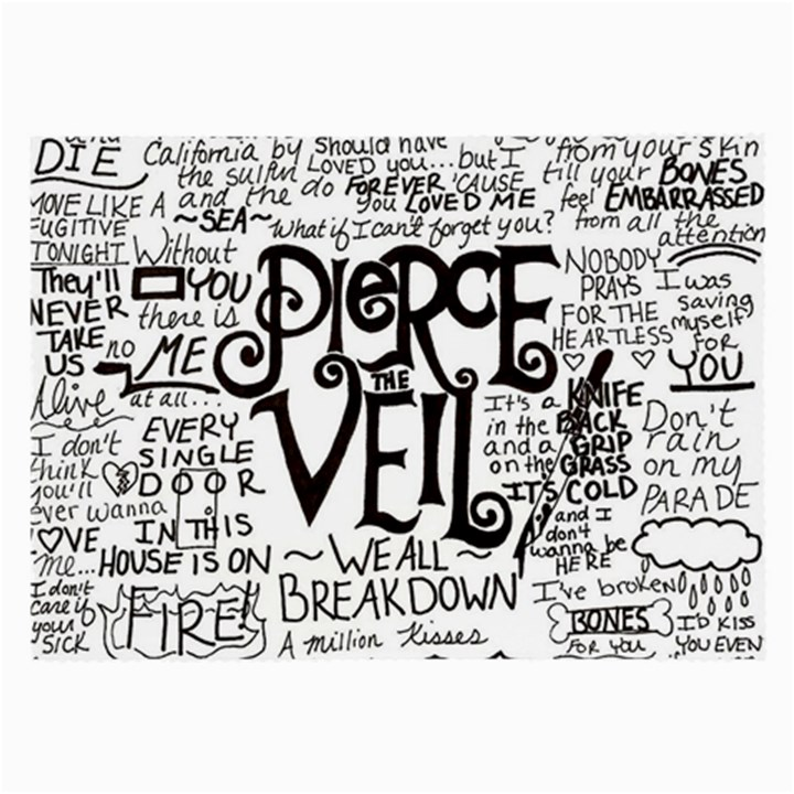 Pierce The Veil Music Band Group Fabric Art Cloth Poster Large Glasses Cloth (2-Side)