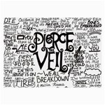 Pierce The Veil Music Band Group Fabric Art Cloth Poster Large Glasses Cloth (2-Side) Back