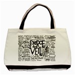 Pierce The Veil Music Band Group Fabric Art Cloth Poster Basic Tote Bag (Two Sides) Back