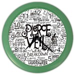 Pierce The Veil Music Band Group Fabric Art Cloth Poster Color Wall Clocks Front
