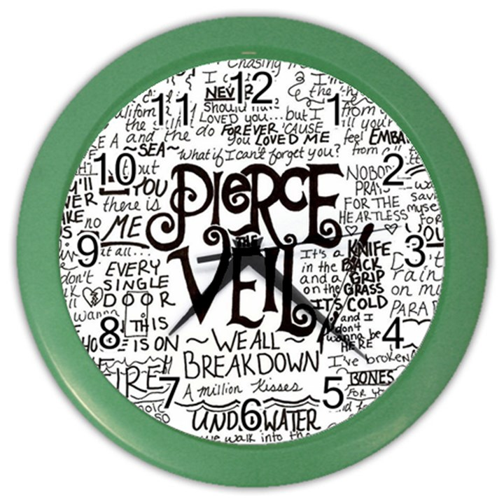 Pierce The Veil Music Band Group Fabric Art Cloth Poster Color Wall Clocks