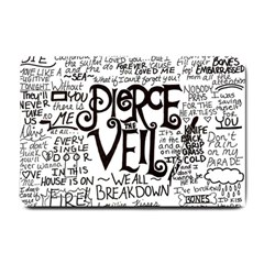 Pierce The Veil Music Band Group Fabric Art Cloth Poster Small Doormat