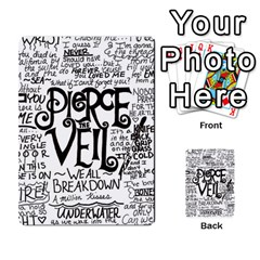 Pierce The Veil Music Band Group Fabric Art Cloth Poster Multi-purpose Cards (Rectangle)