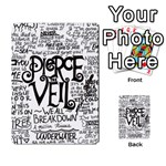 Pierce The Veil Music Band Group Fabric Art Cloth Poster Multi-purpose Cards (Rectangle)  Back 3