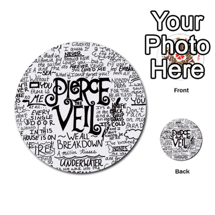 Pierce The Veil Music Band Group Fabric Art Cloth Poster Multi-purpose Cards (Round)