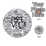 Pierce The Veil Music Band Group Fabric Art Cloth Poster Multi-purpose Cards (Round)  Back 3