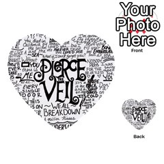 Pierce The Veil Music Band Group Fabric Art Cloth Poster Multi-purpose Cards (Heart)