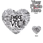 Pierce The Veil Music Band Group Fabric Art Cloth Poster Multi-purpose Cards (Heart)  Back 4