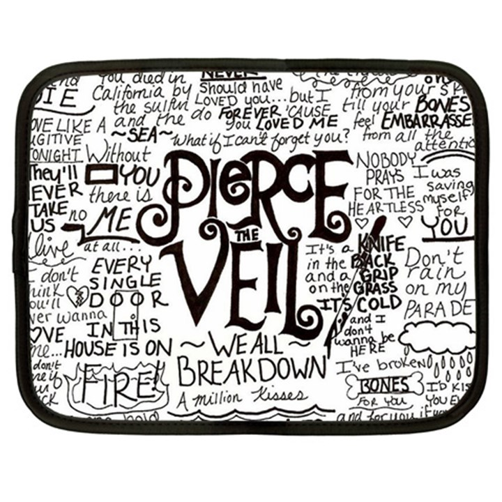 Pierce The Veil Music Band Group Fabric Art Cloth Poster Netbook Case (Large)