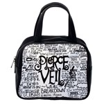 Pierce The Veil Music Band Group Fabric Art Cloth Poster Classic Handbags (One Side) Front
