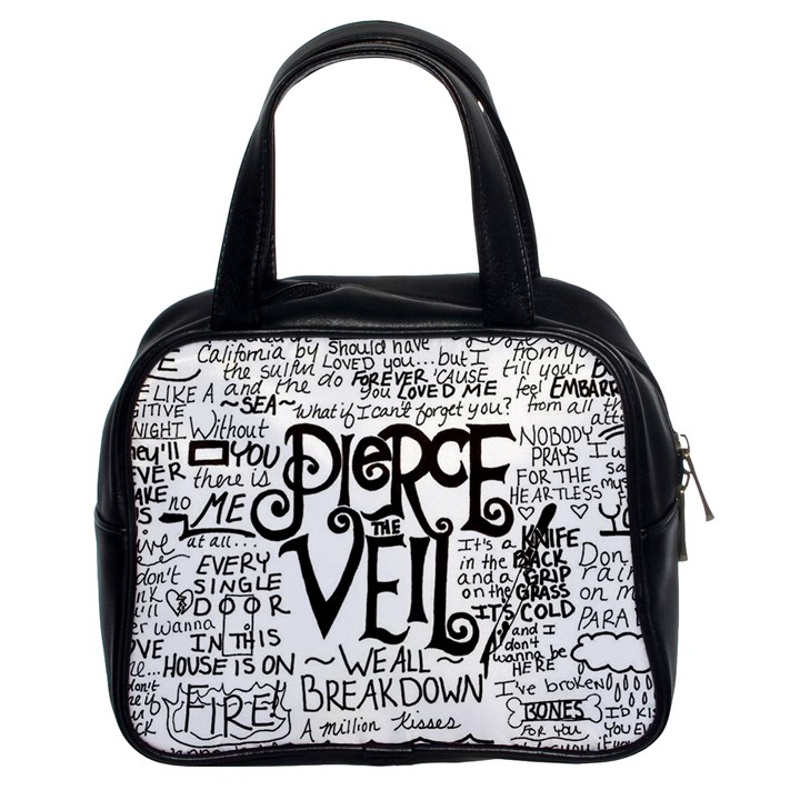 Pierce The Veil Music Band Group Fabric Art Cloth Poster Classic Handbags (2 Sides)