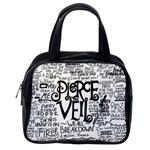 Pierce The Veil Music Band Group Fabric Art Cloth Poster Classic Handbags (2 Sides) Back