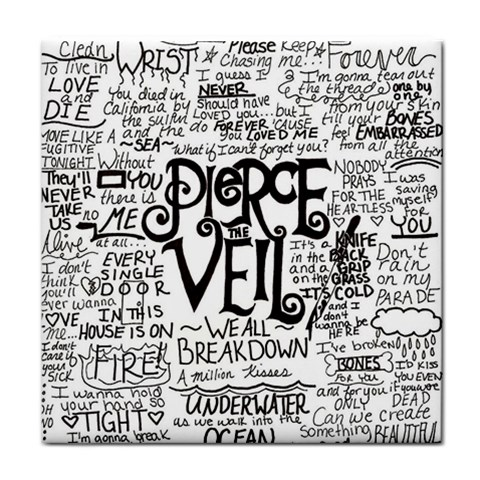 Pierce The Veil Music Band Group Fabric Art Cloth Poster Face Towel