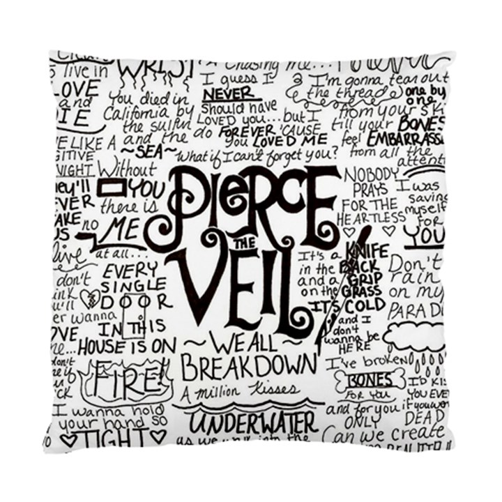 Pierce The Veil Music Band Group Fabric Art Cloth Poster Standard Cushion Case (Two Sides)