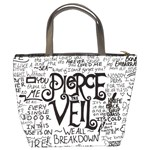 Pierce The Veil Music Band Group Fabric Art Cloth Poster Bucket Bags Back
