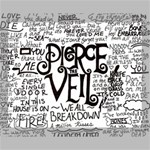 Pierce The Veil Music Band Group Fabric Art Cloth Poster Canvas 14  x 11  14  x 11  x 0.875  Stretched Canvas