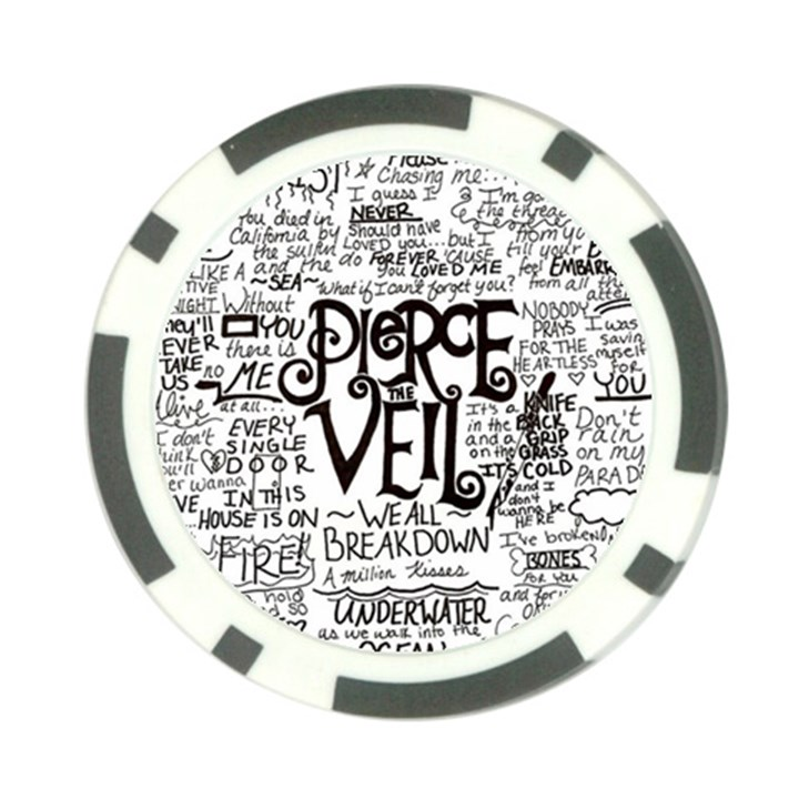 Pierce The Veil Music Band Group Fabric Art Cloth Poster Poker Chip Card Guards (10 pack)